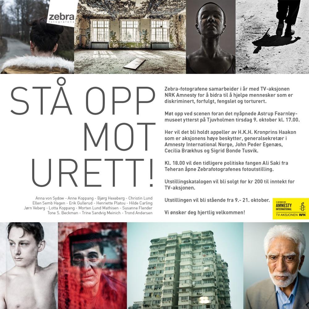 Zebrafotografene Amnesty Utstilling