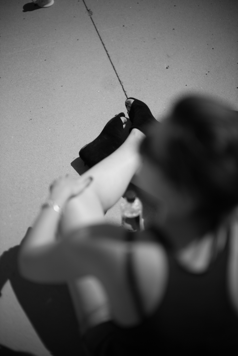 50mm Noctilux f0.95. Lise i pausemodus etter fem timers øving.