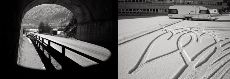 v) Tunnel. Leica M9, Summicron-M 28mm 2.0 ASPH h) Parkeringsplass. Leica M9, Summicron-M 28mm 2.0 ASPH