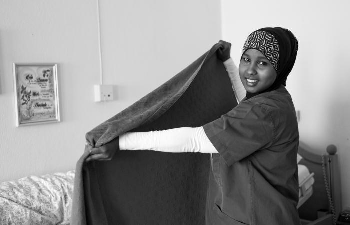 Najma Sharif, Somalia. Lærling Pensjonærhjemmet