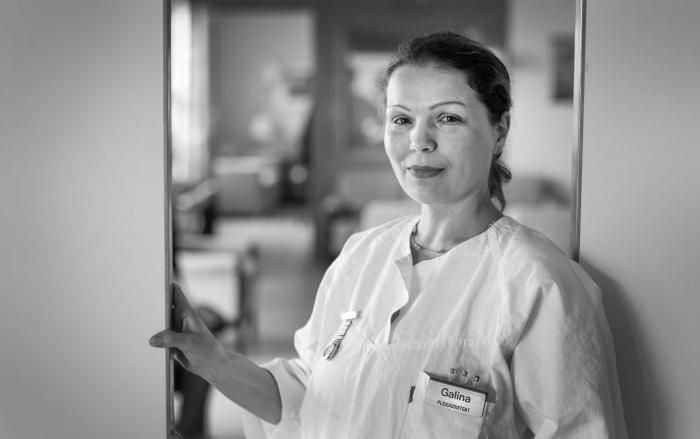 Galina Smirnova, Usbekistan, pleieassistent